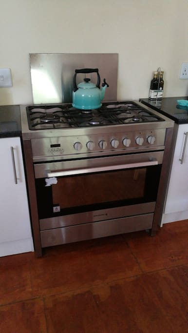 Spacious kitchen and gas stove & Electric oven.