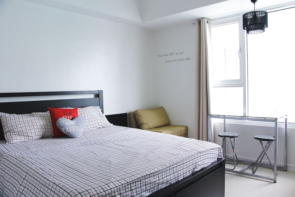 Bedroom View 3 (Real Double Bed with mini sofa, mini dining area and bedside table)