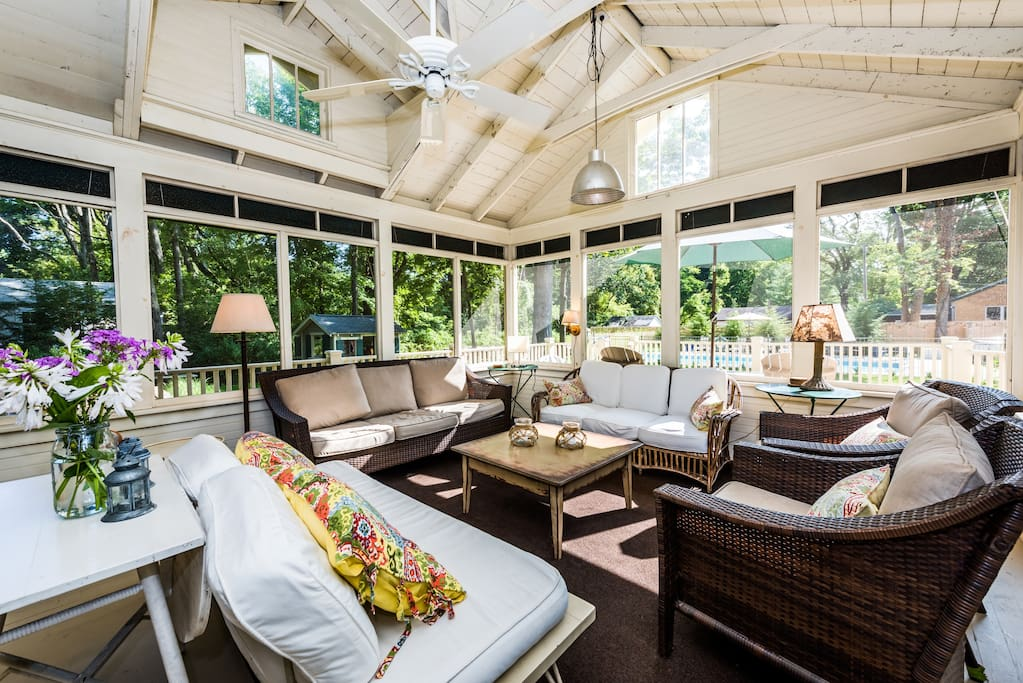 Beautiful and spacious screened in porch!