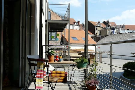 2-person room with big private balcony - Schaerbeek - Apartment