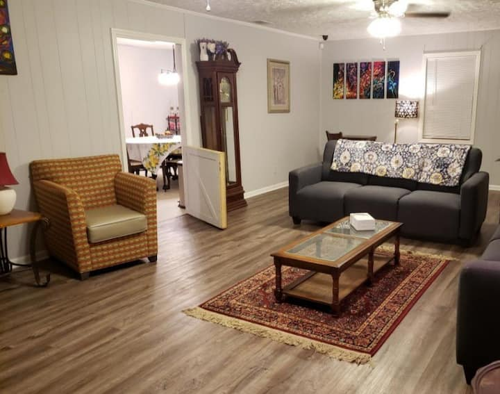 Relaxing space in a convenient location