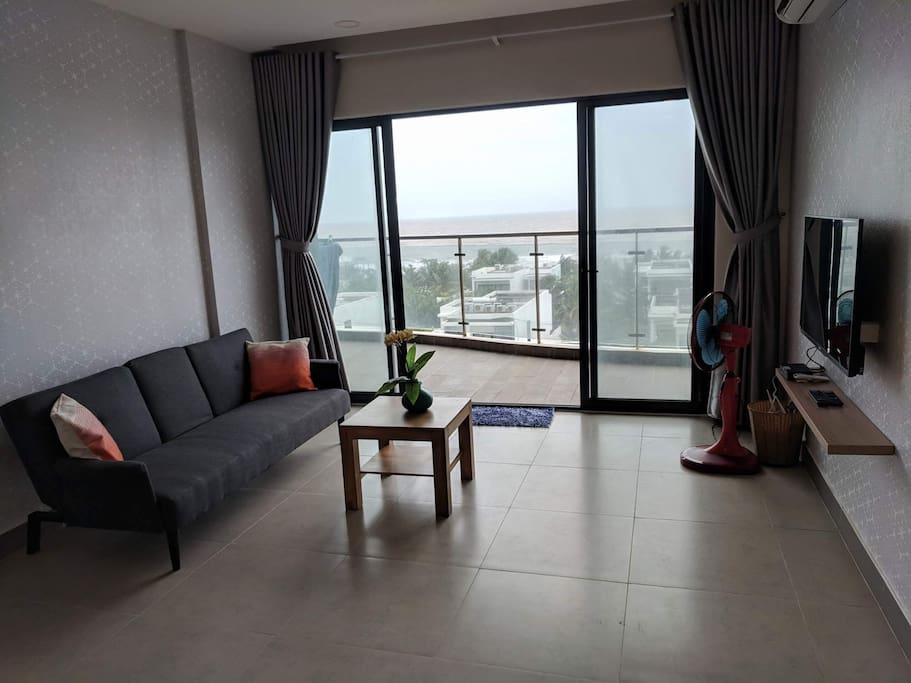 Seaview from living room