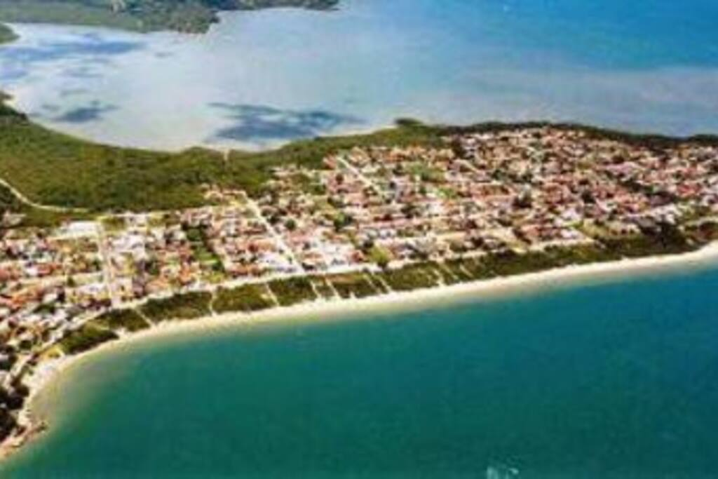 vista aérea da praia da Daniela