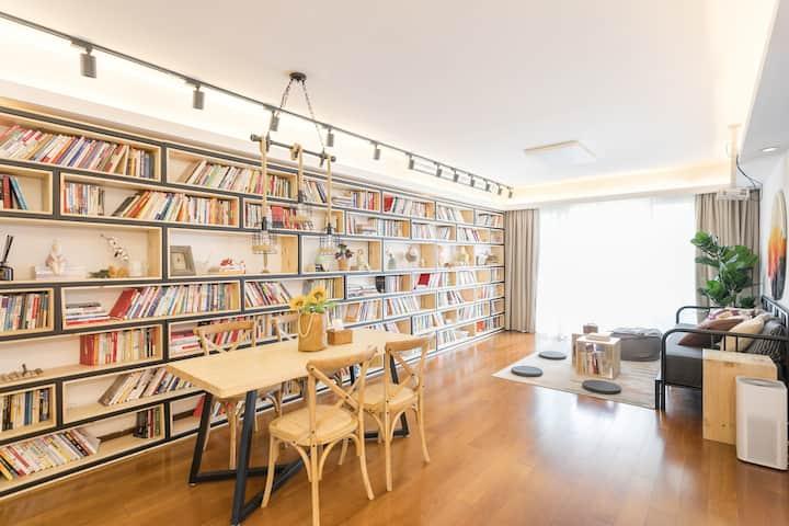 (全面消毒,1天起订)「书的房」人民广场地铁站步行209米|南京路步行街203米|两梯两户高端公寓