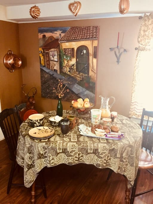 Continental breakfast to be discussed before your visit of preferences