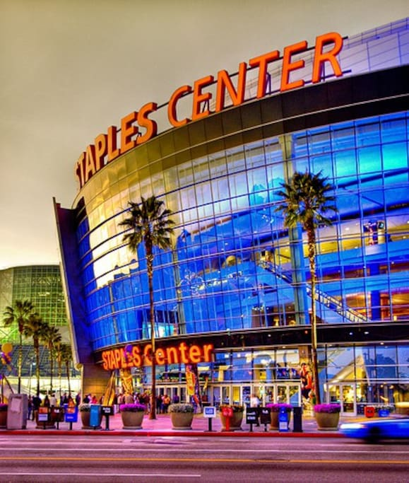 Steps away from the staples center