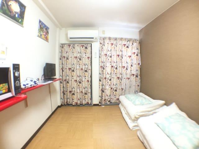 Q-2Beautiful room, WIFI, Kyoto, Kobe and Nara !! - Chūō-ku, Ōsaka-shi