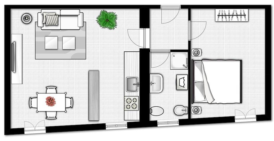 Appartamento in pieno centro per soggiorni mensili