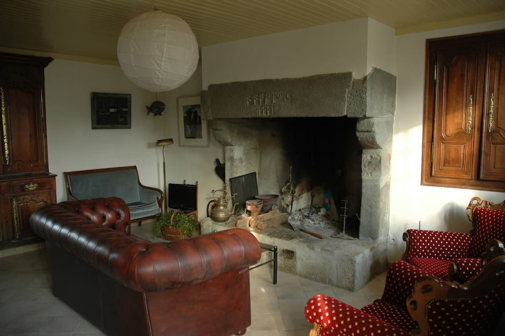 huge fireplace!