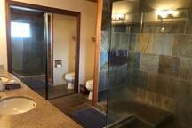 Master Bathroom with huge rain shower