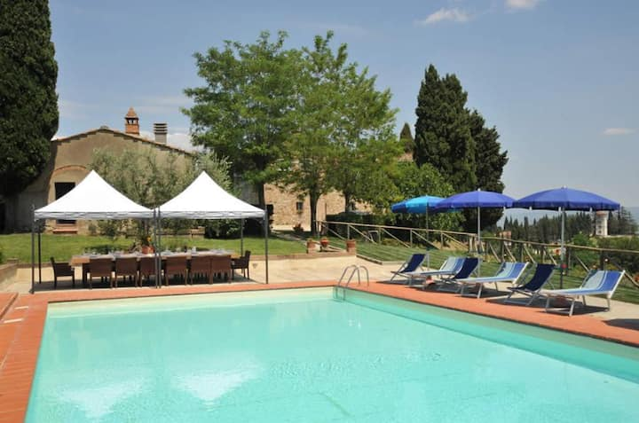 Panoramic villa with garden and pool by Vacavilla