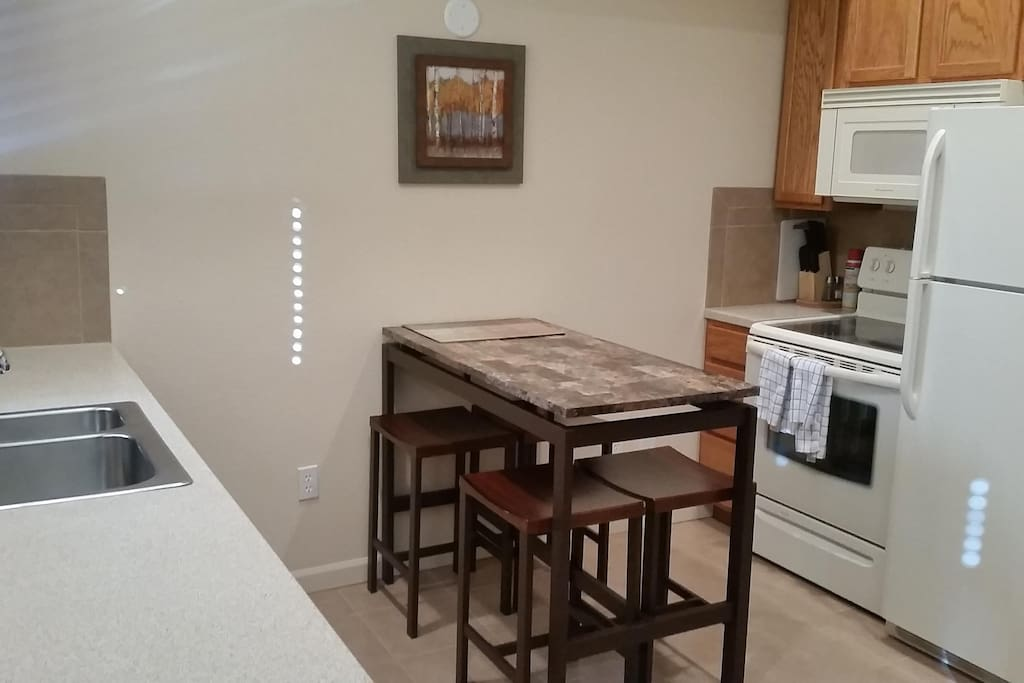 Kitchen and dining area, some
