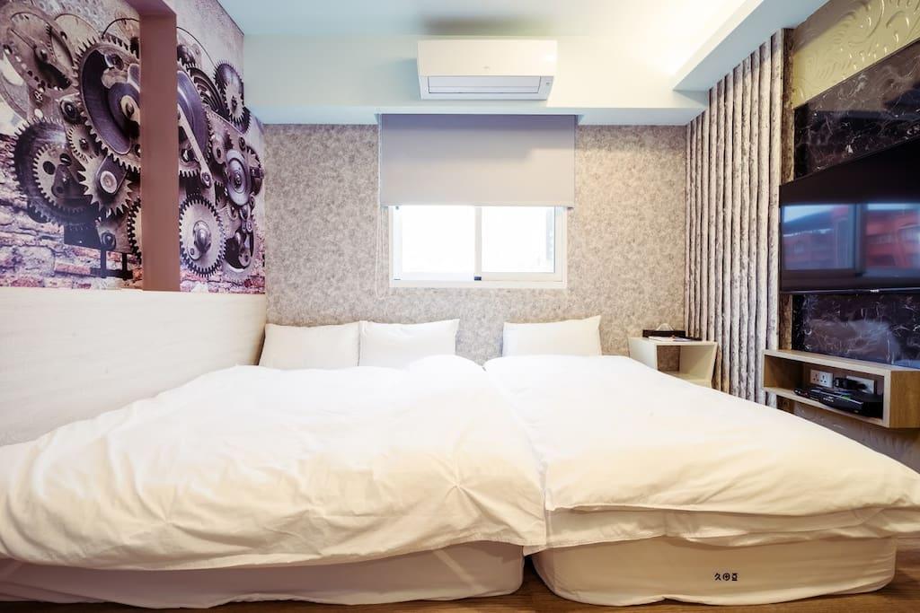 三人房(一雙人床+一單人床) Triple room (one double bed+one single bed)