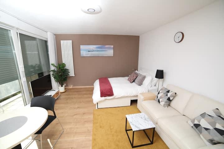 Modern bright studio apartment near Basel ★Netflix