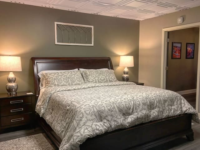 Master Bedroom featuring king-size bed