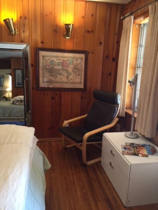 """Rustic Pine Room"" Sitting Area"