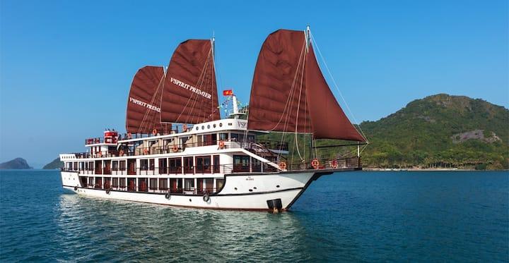 Lan Ha Bay on V'Spirit Premier Cruise 2day/1 night
