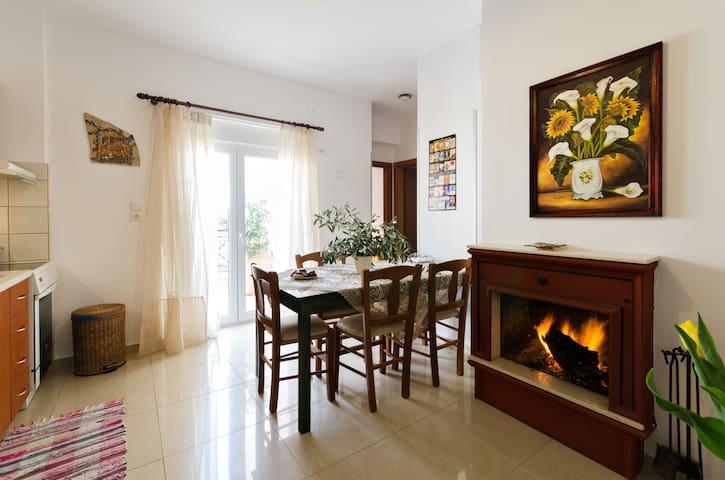 New Modern Apartment 100m from the Beach! - Agia Pelagia - Apartamento