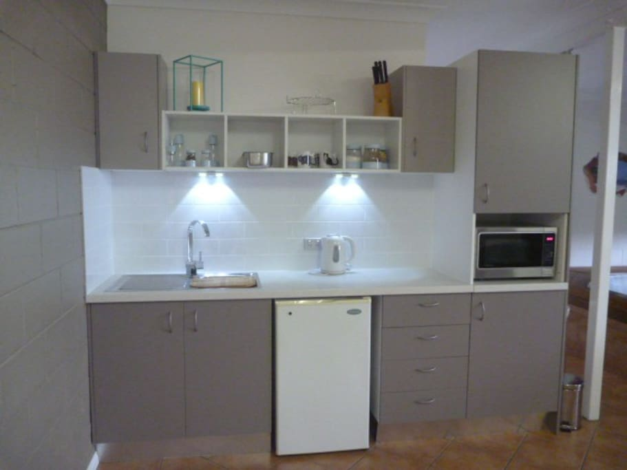 Kitchenette with everything you need.