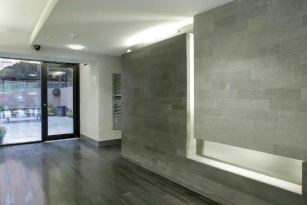 Clean, modern entryway