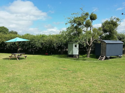 New Farm Shepherds Huts and Camping