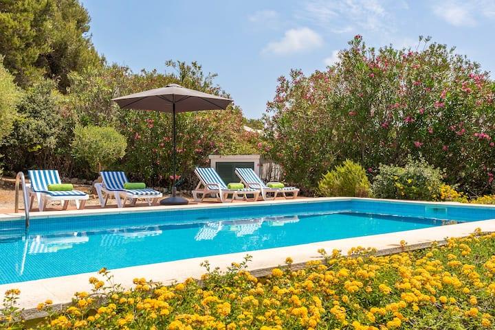 Villa BiniNina - private pool, seaview, free AC & WiFi