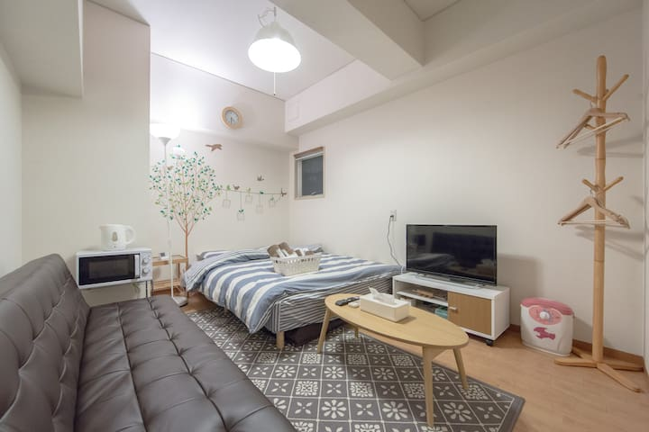 9min. JR Namba ST 3PPL portable wifi for free - Osaka - Apartamento