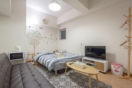⑧9min. JR Namba ST 3PPL portable wifi for free - Ōsaka-shi - Appartement