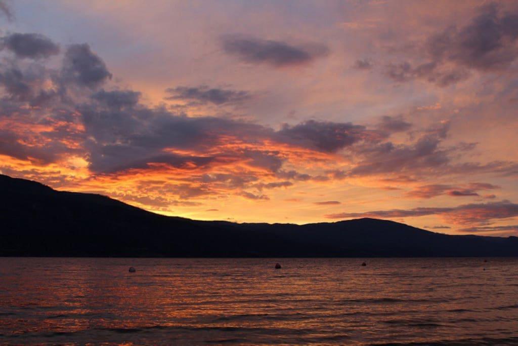 Sunset down at Okanagan Lake
