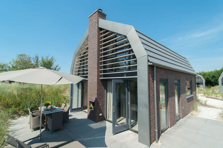 Beautiful new villa with sauna surrounded by dune reserve near the sea