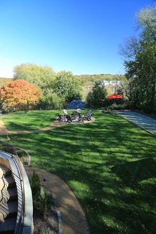 View of back yard from guest house