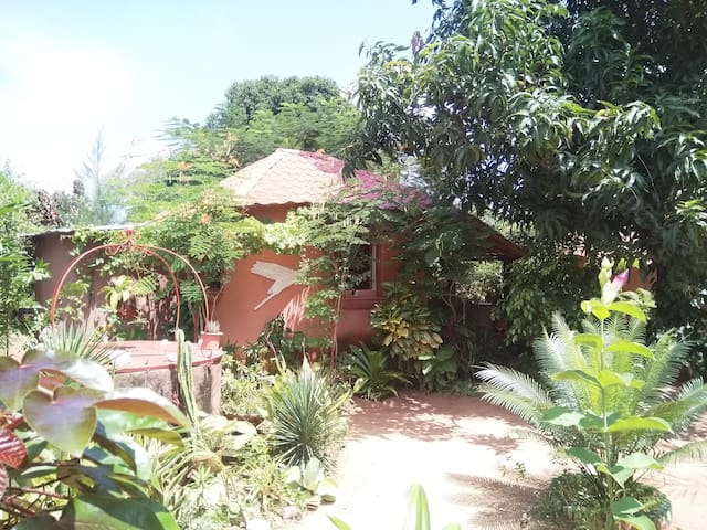 Belle Case dans joli jardin verdoyant et apaisant
