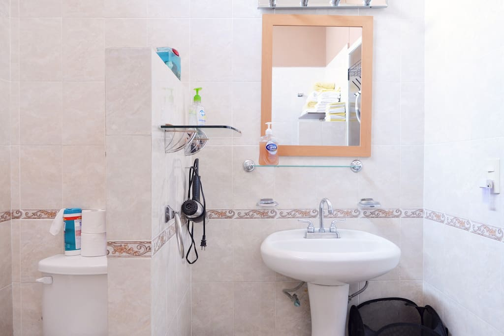 Small, but clean bathroom with all nesessities