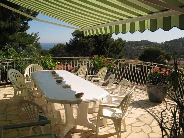 Vue, espace, calme, une Villa à 3mn des plages