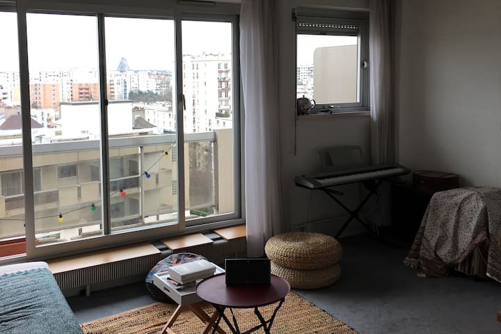 2 pieces avec balcon  metro Bel Air - Paris - Apartemen