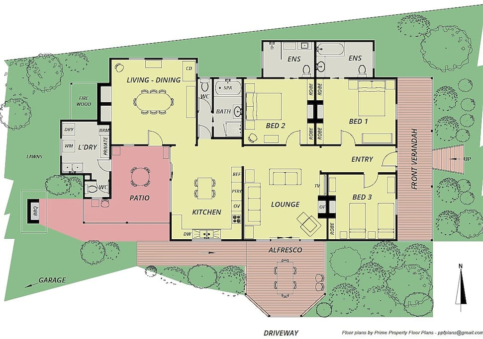 Fairbank layout, about 200m2