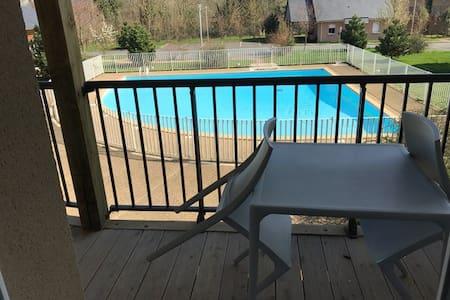 Charmant studio avec piscine à 5 min de Honfleur - Équemauville - Wohnung