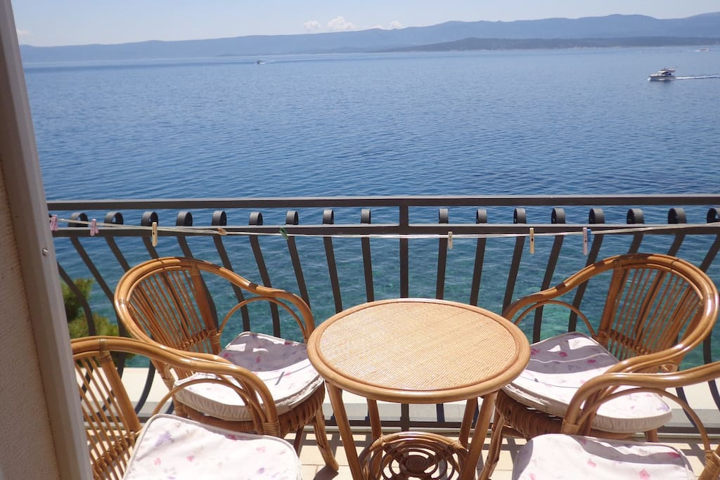 Balcony with sea view, newest sitting garniture