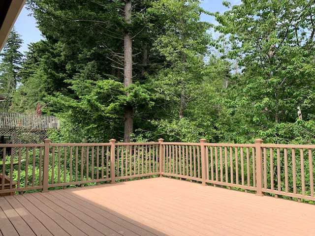 2nd Story Deck w/ jungle view, morning bird sounds