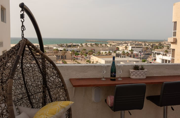 Rooftop next to the beach with amazing sea view.