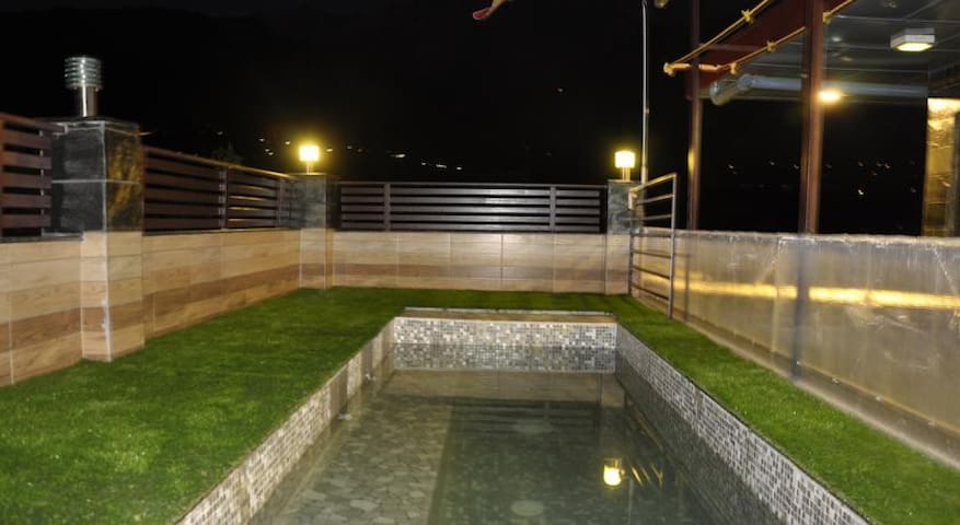 Home with Pool in Dharamshala near Cricket stadium