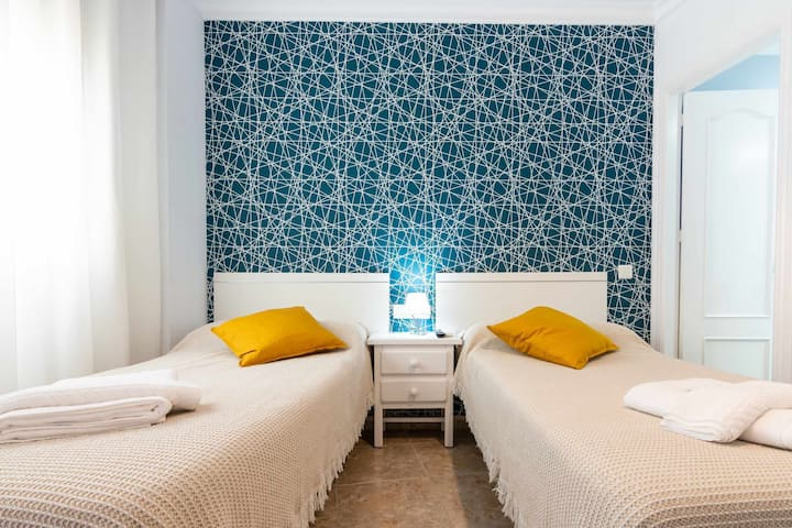 104 room with 2 beds of 90 cm and private terrace