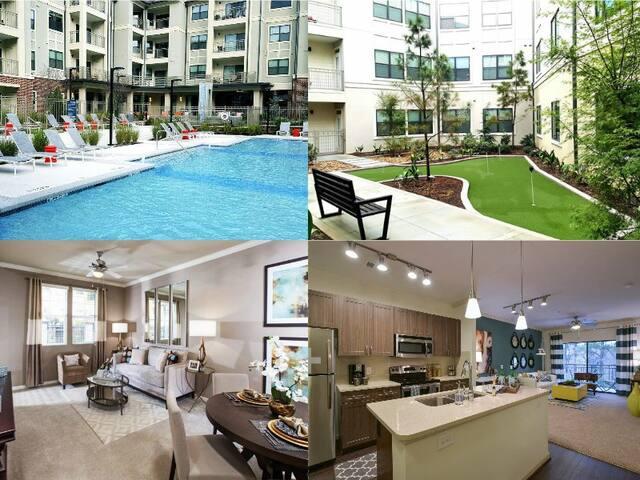 Luxury Unit 1br/2ba - Atlanta - Apartemen
