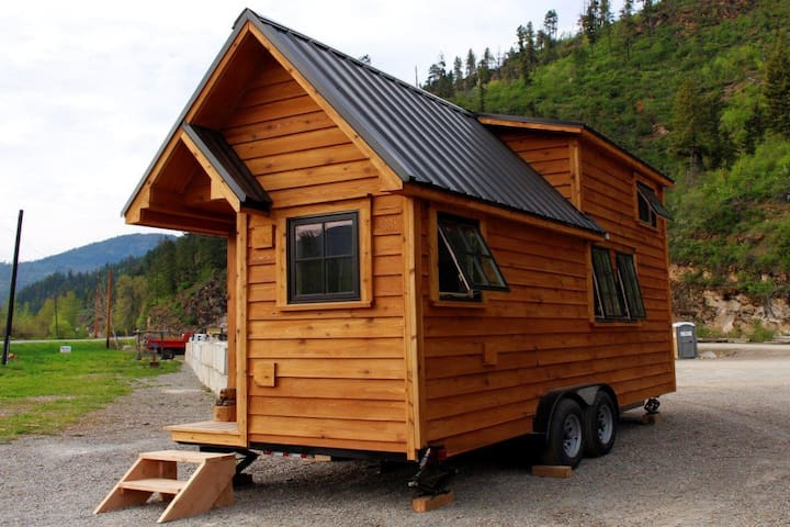 New tiny home tucked in the woods.