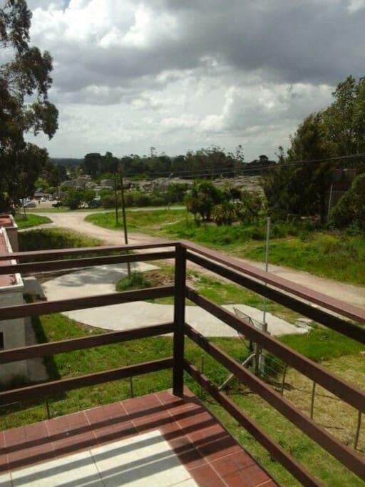 Vista del balcón terraza