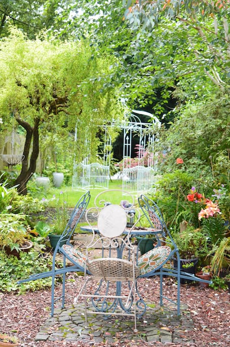 Our garden which you are welcome to have your breakfast in over the summer months.