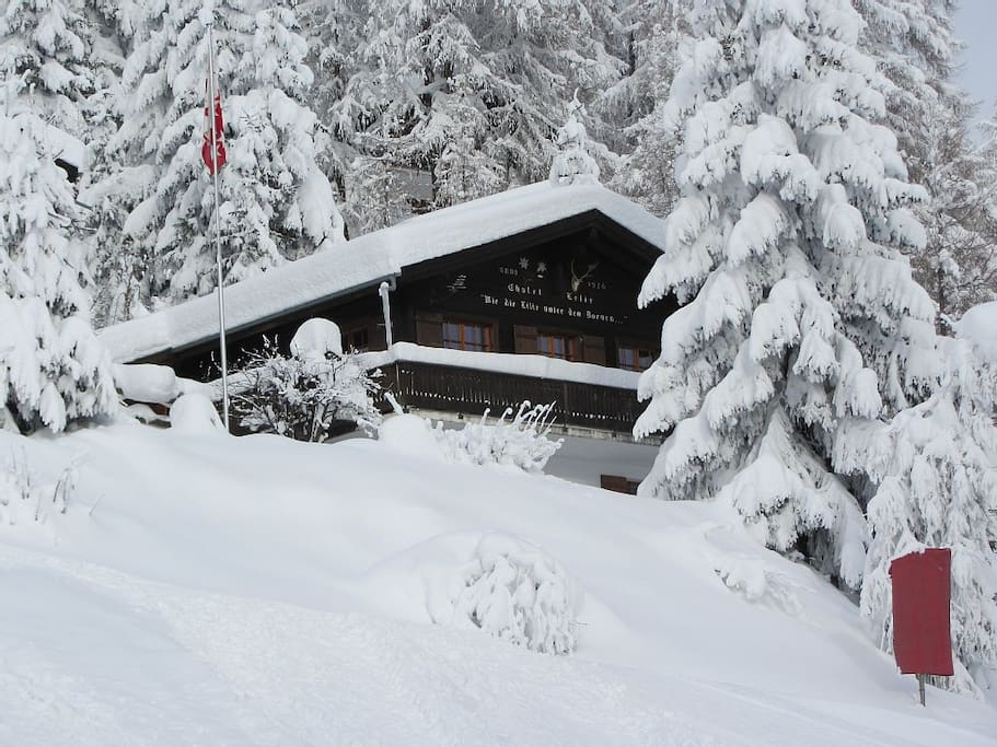 skien tot aan de voordeur