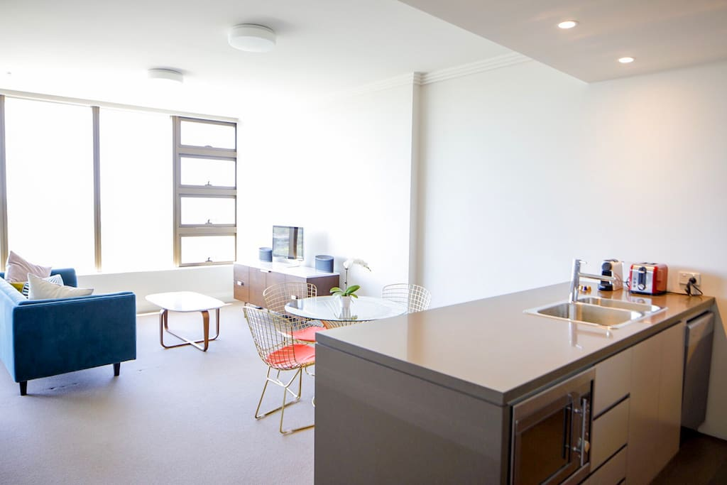 Open Plan Living and Kitchen Space