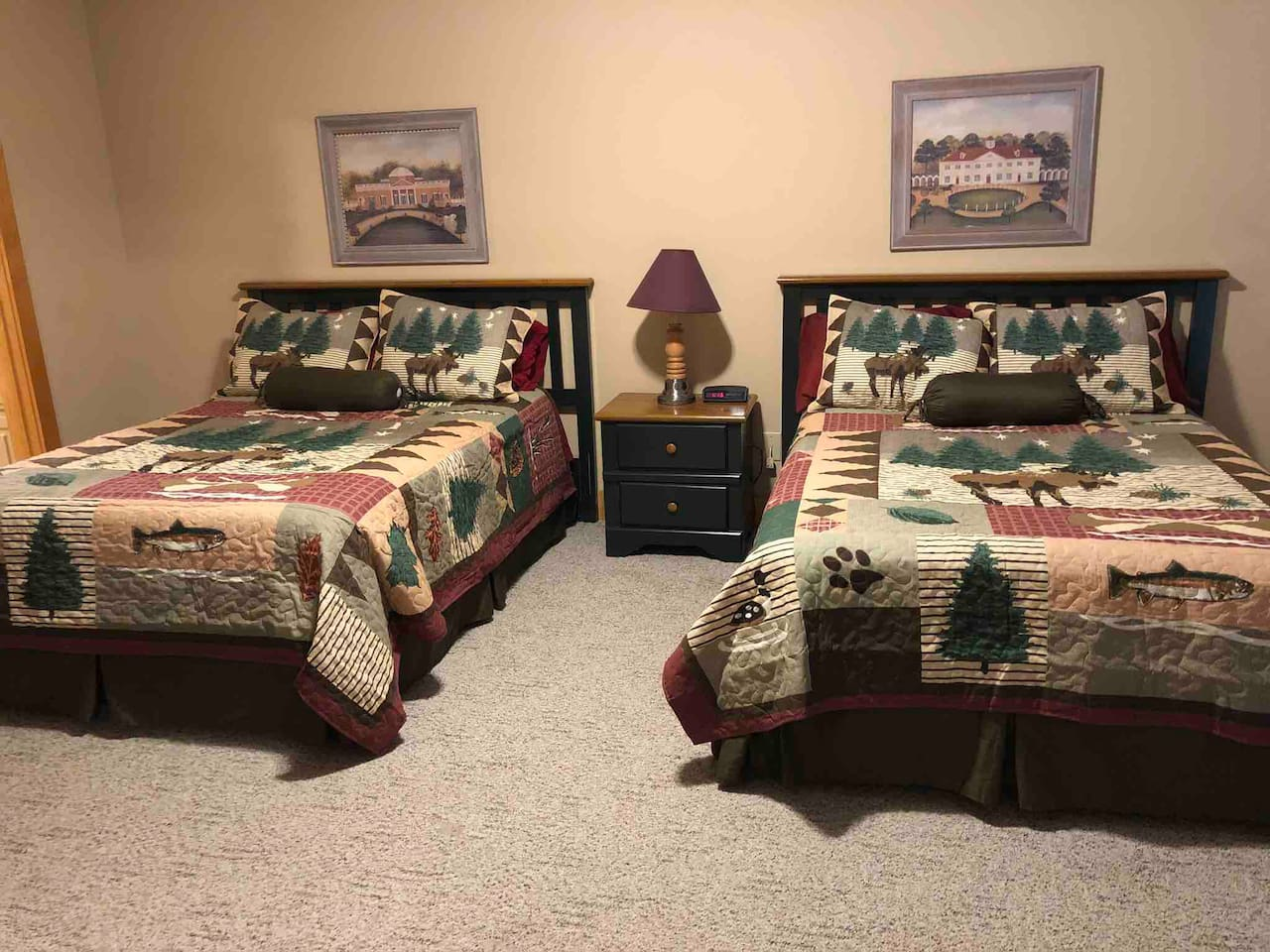 Spacious bedroomWith 800 count sheets and luxurious pillows