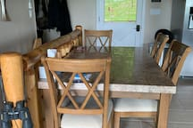 Main level entry  Dining table